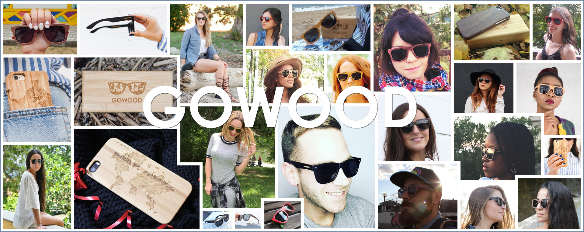 GoWood wood sunglasses and wood phone cases