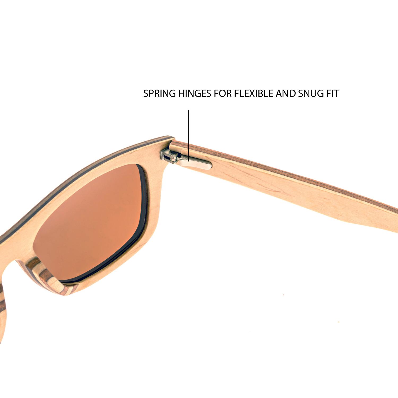 Brown maple wood sunglasses
