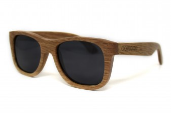 Wood wayfarer sunglasses Amsterdam angle