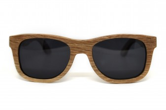 Wood wayfarer sunglasses Amsterdam front