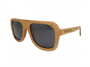 Oak aviator wood sunglasses
