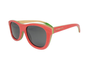 rskateboard wood sunglasses in red