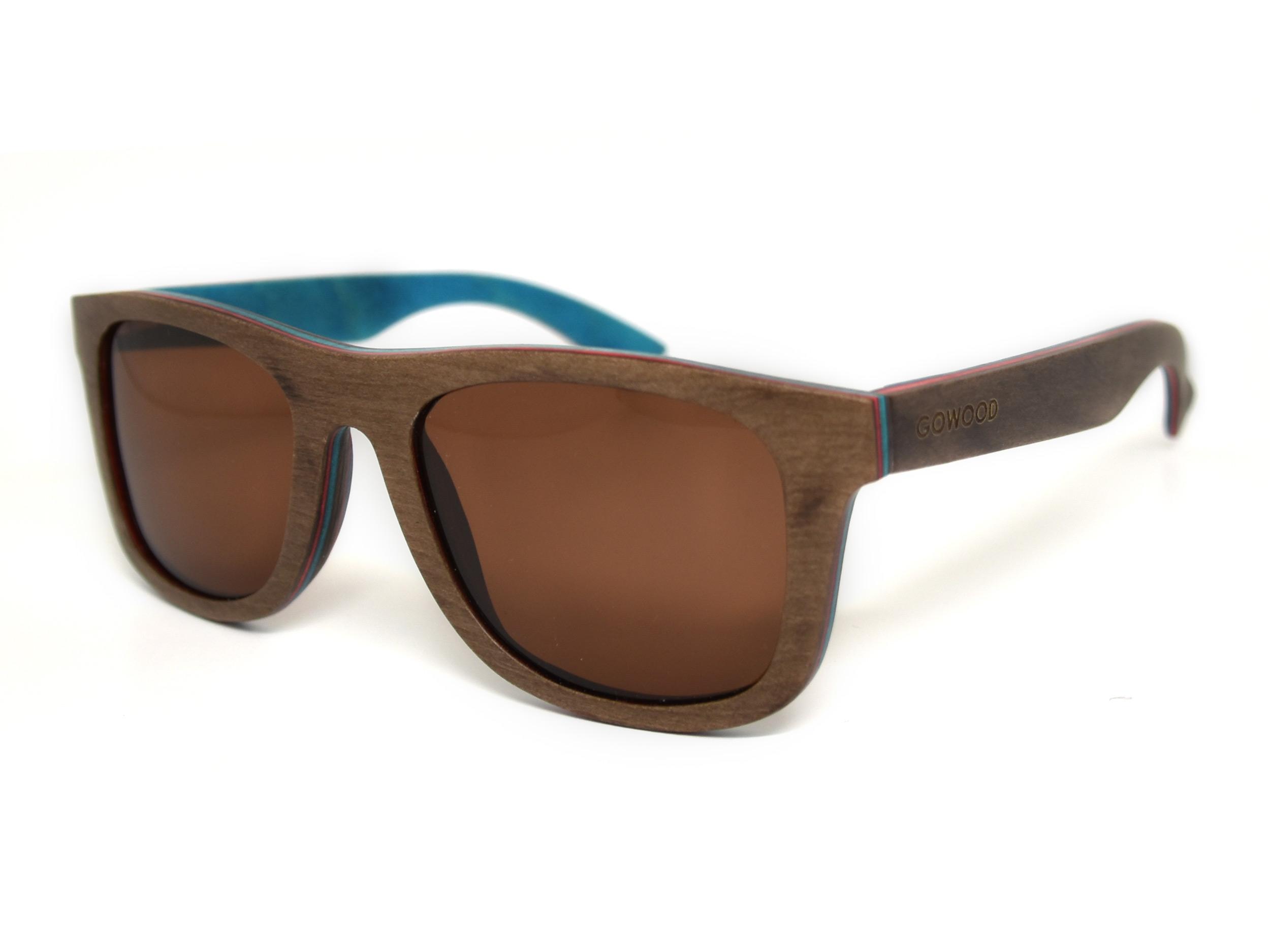 Skateboard wood sunglasses Toulouse angle
