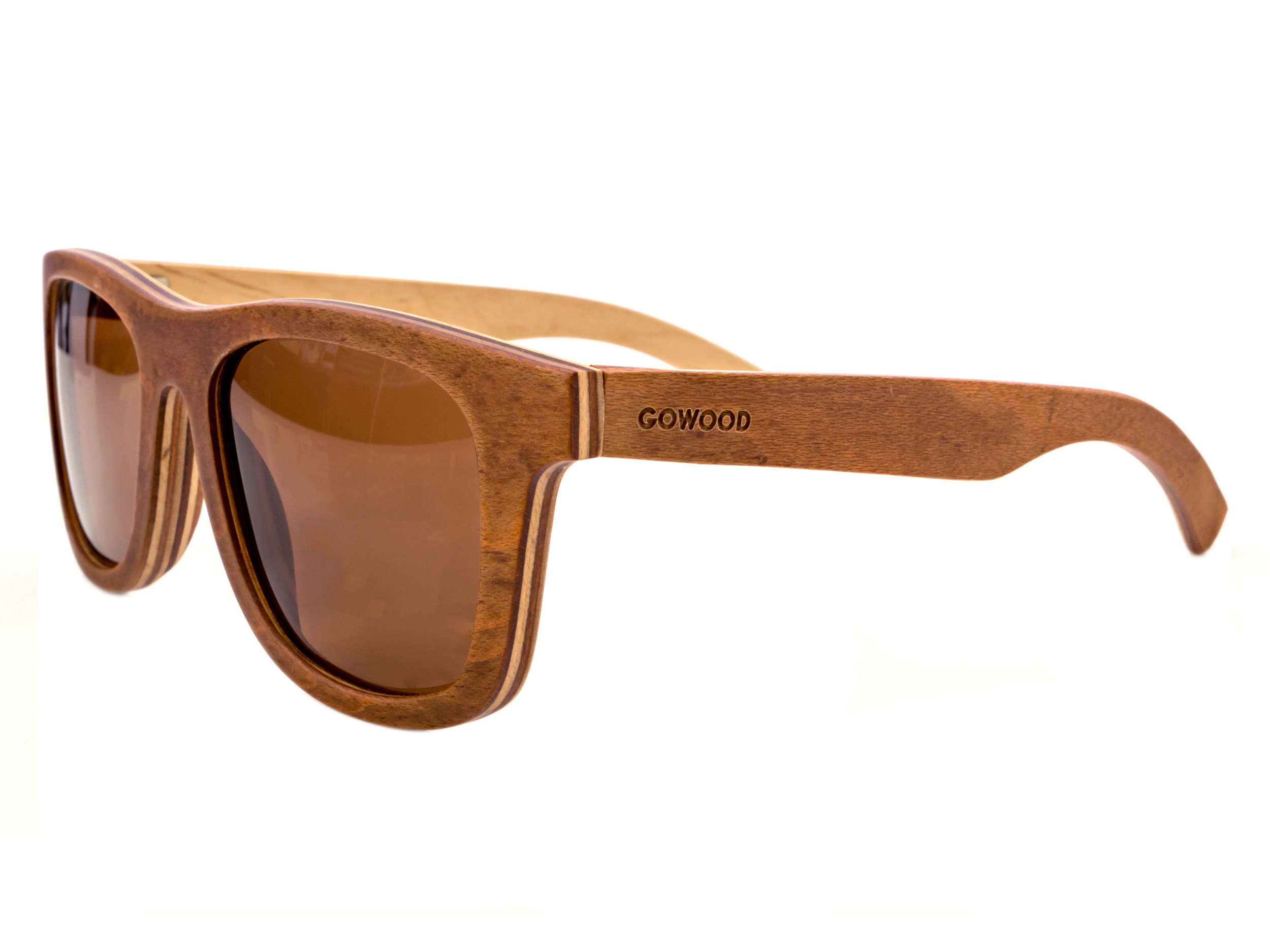 Brown skateboard wood sunglasses