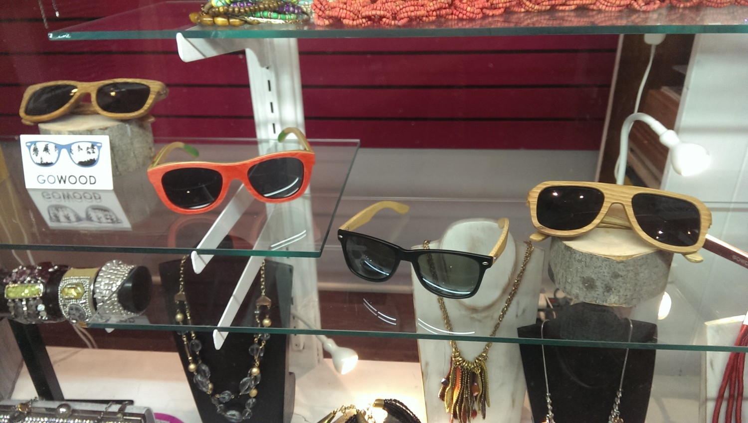 Wooden Sunglasses available at ModEcho St Sauveur