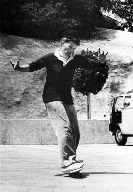 Katharine Hepburn skateboarding - www.gowood.ca