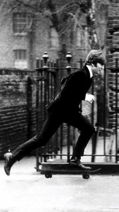 John Lennon skateboarding - www.gowood.ca