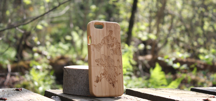 bamboo wood phonecase