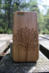 tree bamboo phone case