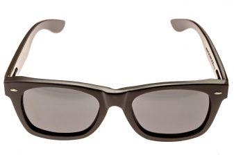 wayfarer style sunglasses black front