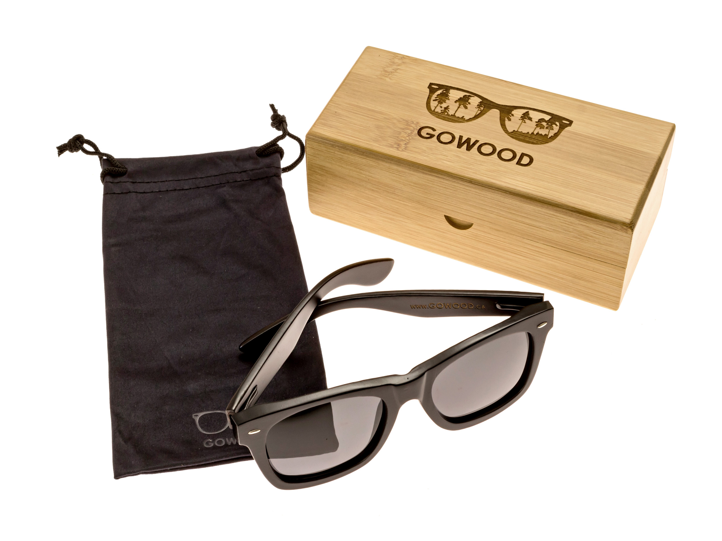 wayfarer style sunglasses black set