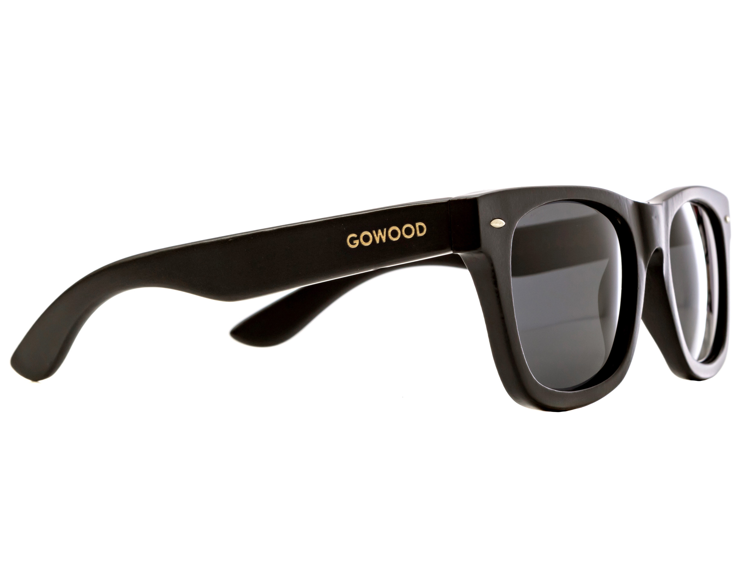 wayfarer style sunglasses black side