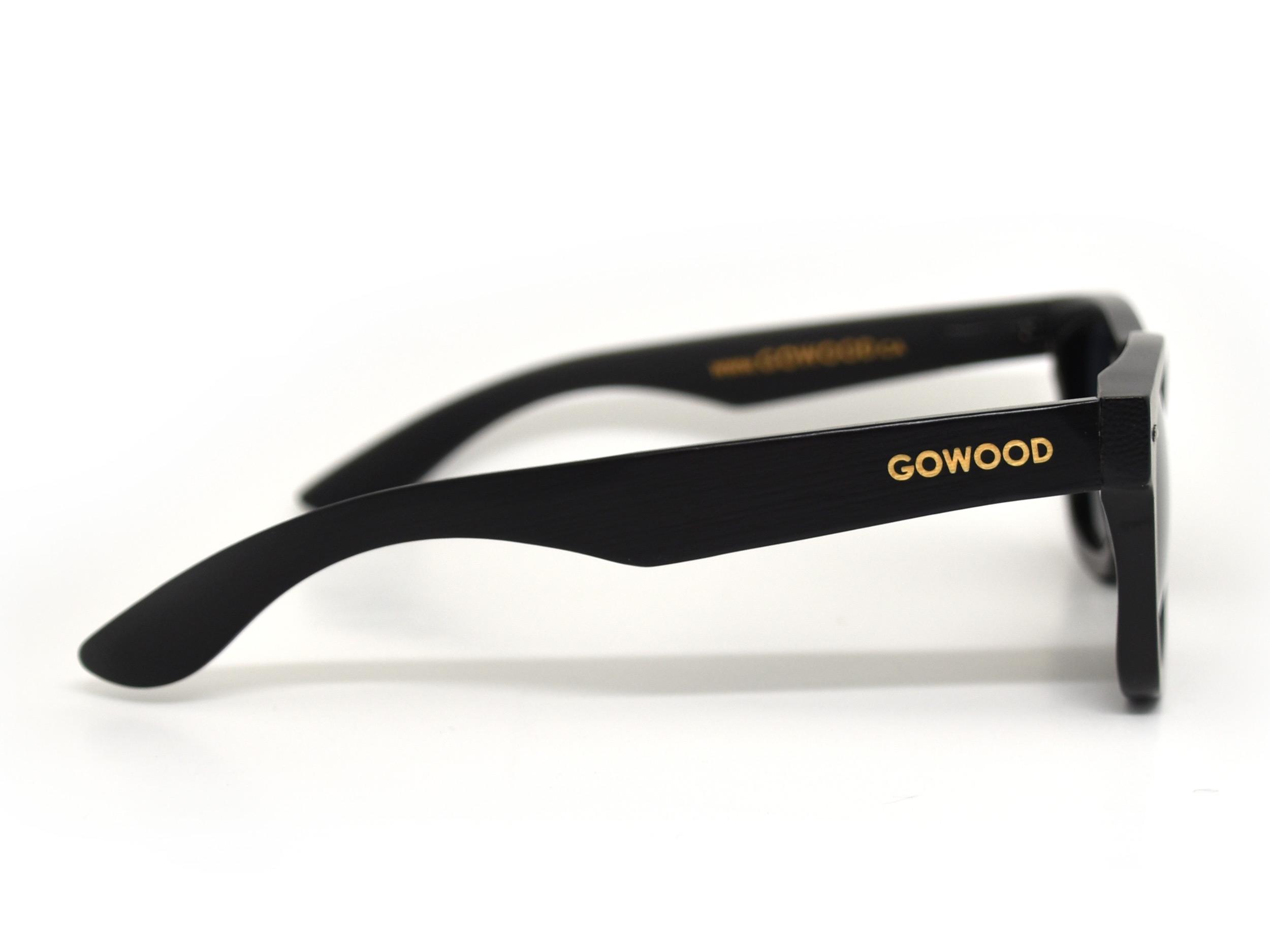 wayfarer style sunglasses black right