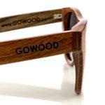 Bubinga and ebony wood sunglasses New York – close up side