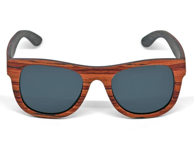 lunettes de soleil en bois de rose et noyer