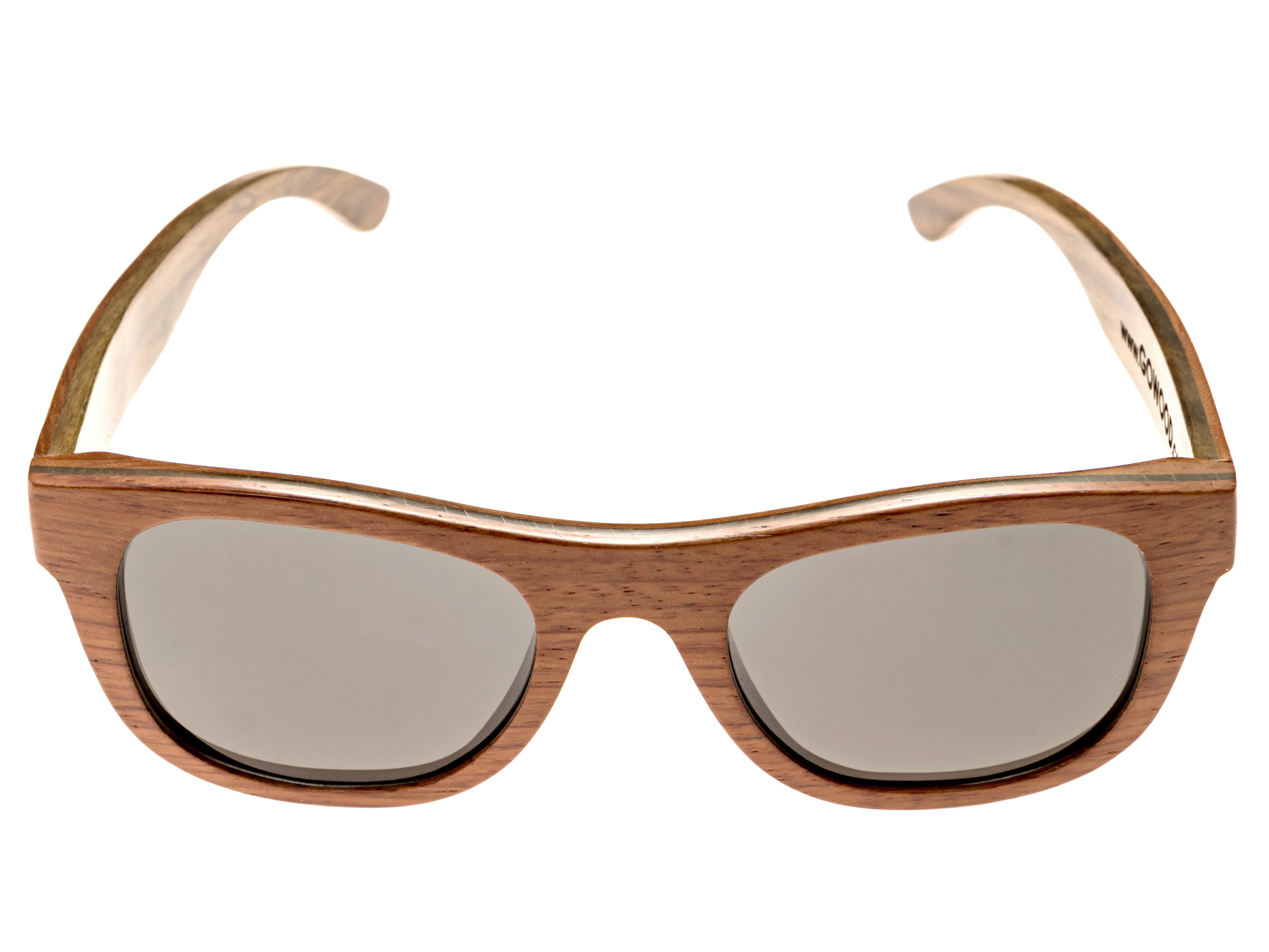 Bubinga and ebony wood sunglasses New York - front
