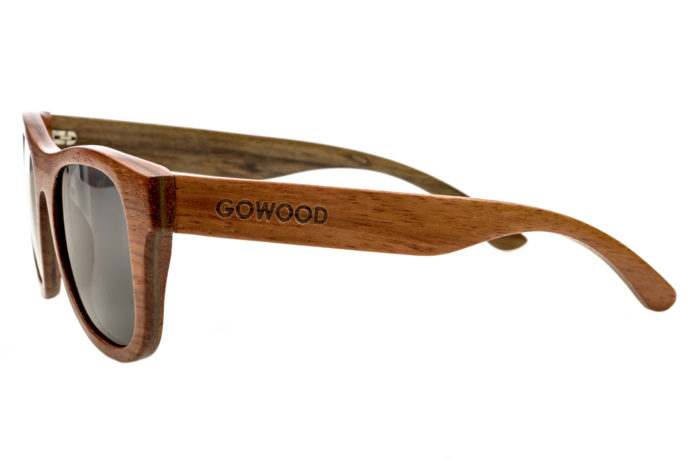 Bubinga and ebony wood sunglasses New York – left side