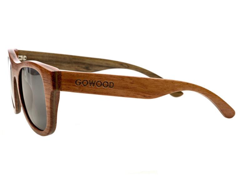 Bubinga and ebony wood sunglasses New York – left side