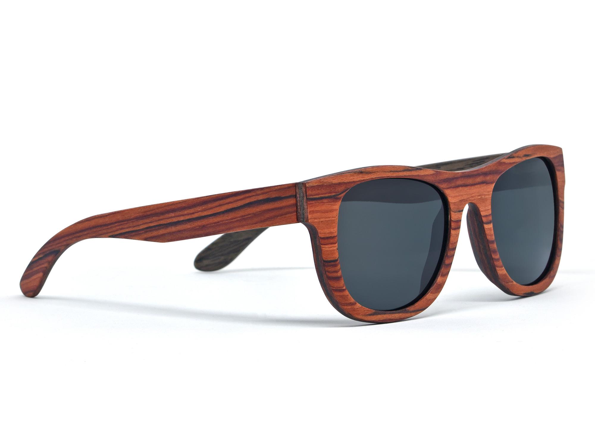 rosewood and walnut wood sunglasses