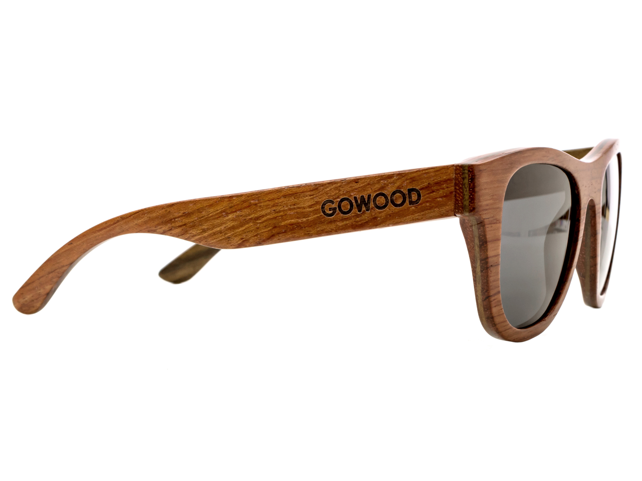 Bubinga and ebony wood sunglasses New York - right side