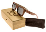 Bubinga and ebony wood sunglasses New York – set