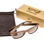 Bubinga and ebony wood sunglasses New York – set