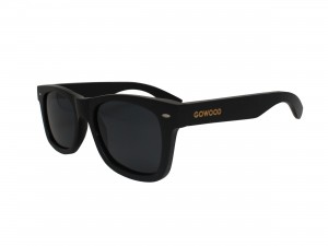 wayfarer style sunglasses black front side