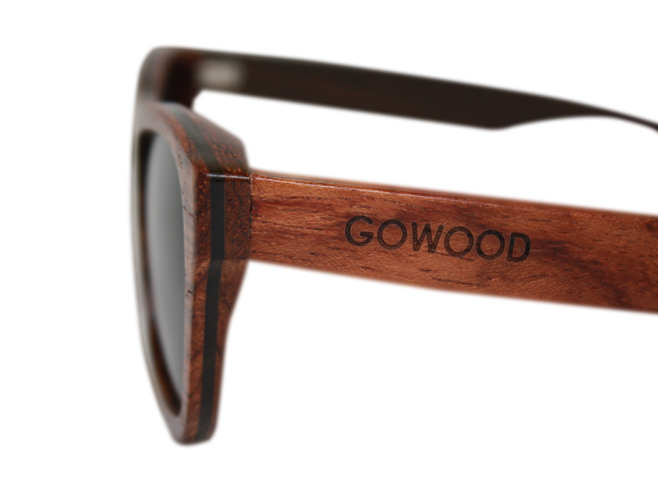 wood sunglasses bubinga closeup