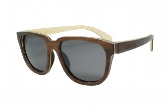 retro womens wood sunglasses angle