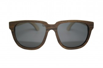 retro womens wood sunglasses front