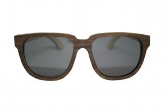 retro womens wood sunglasses front