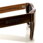 Ebony wood sunglasses New York II – close up side