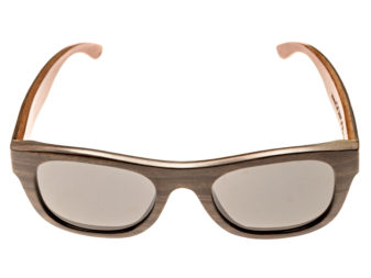 Ebony wood sunglasses New York II - front