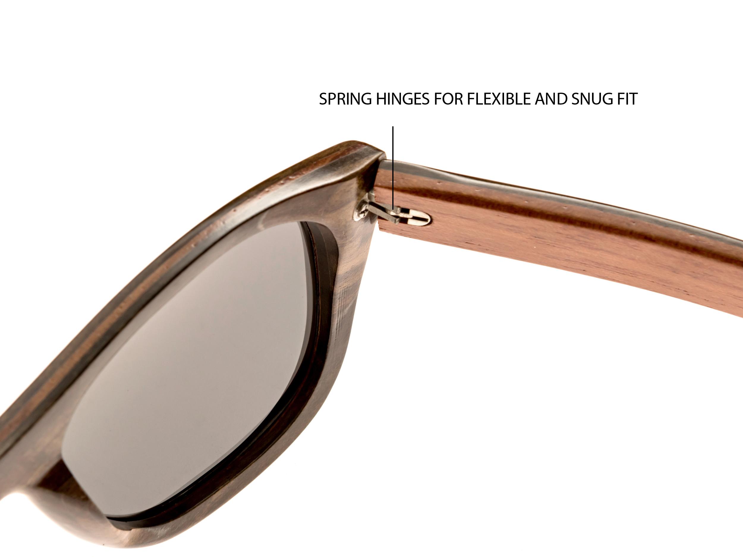 Ebony wood sunglasses New York II - hinge