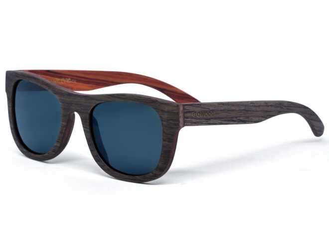 lunettes de soleil en bois de noyer et bois de rose