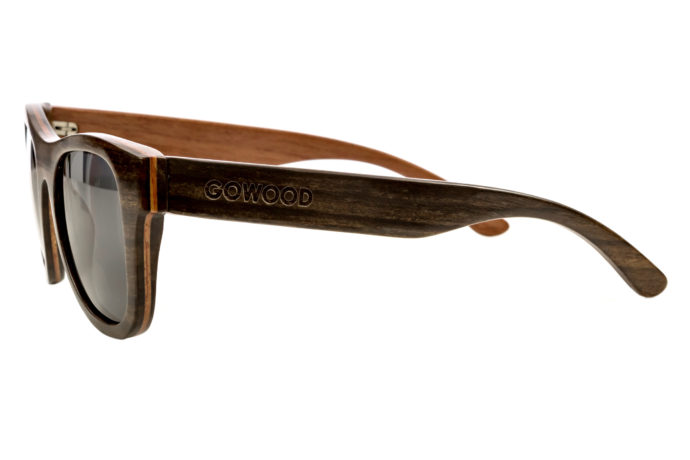 Ebony wood sunglasses New York II – left side