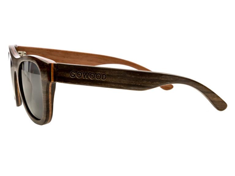 Ebony wood sunglasses New York II – left side