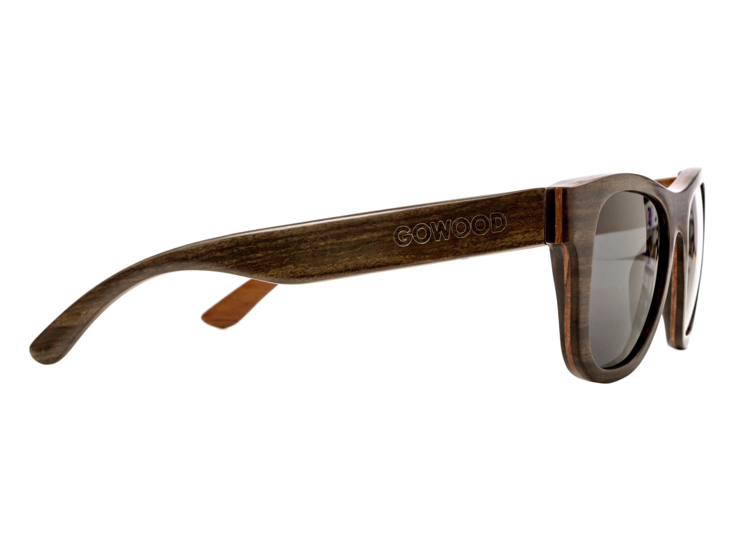 Ebony wood sunglasses New York II - right side