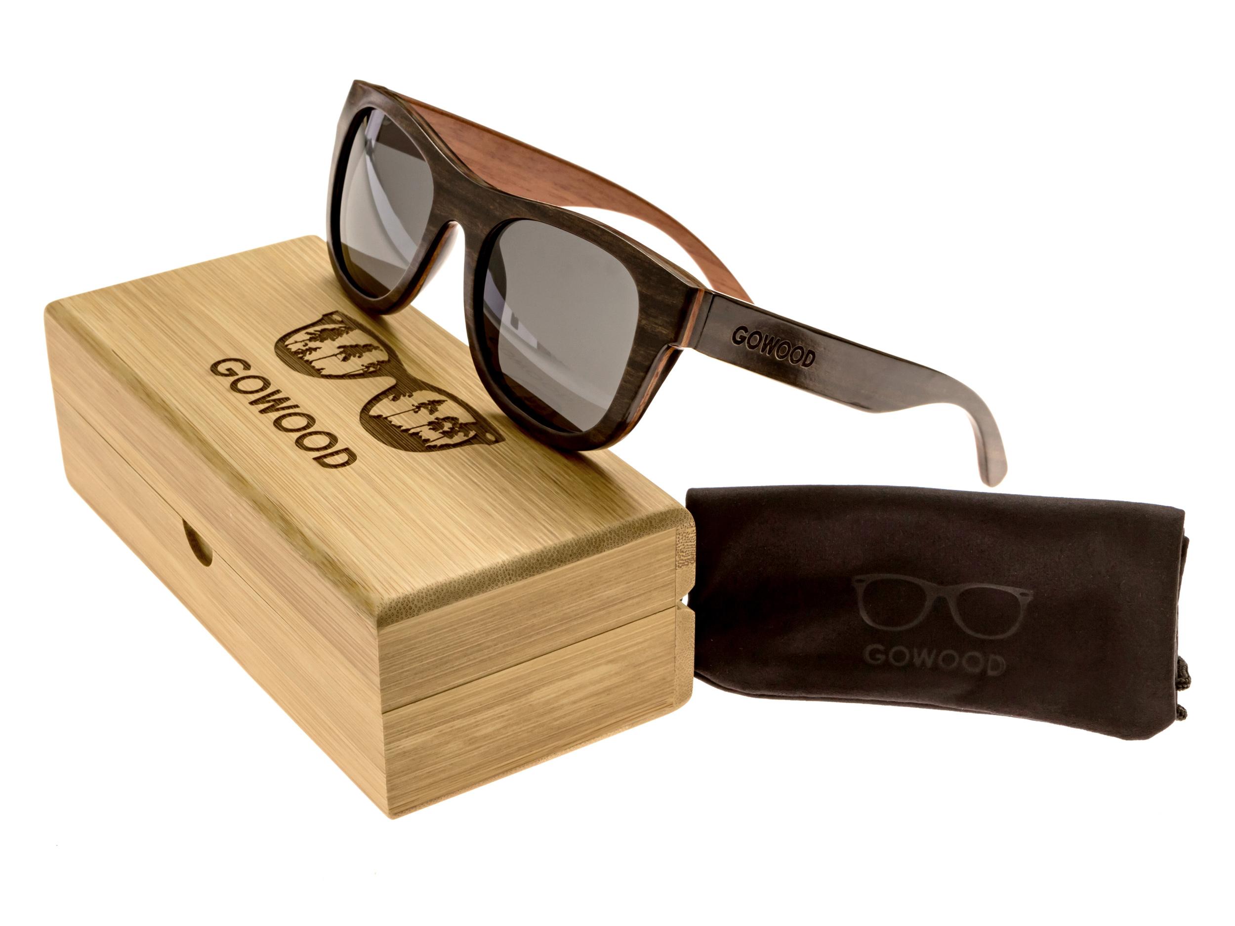 Ebony wood sunglasses New York II - set