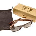 Ebony wood sunglasses New York II – set