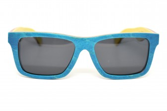 vancouver skateboard wood sunglasses front