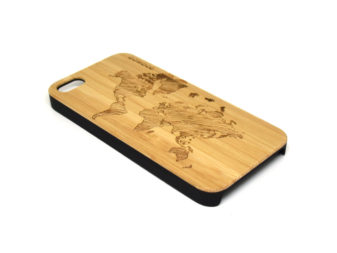 iPhone 5 case world map left angle