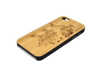 iPhone 5 case world map right angle