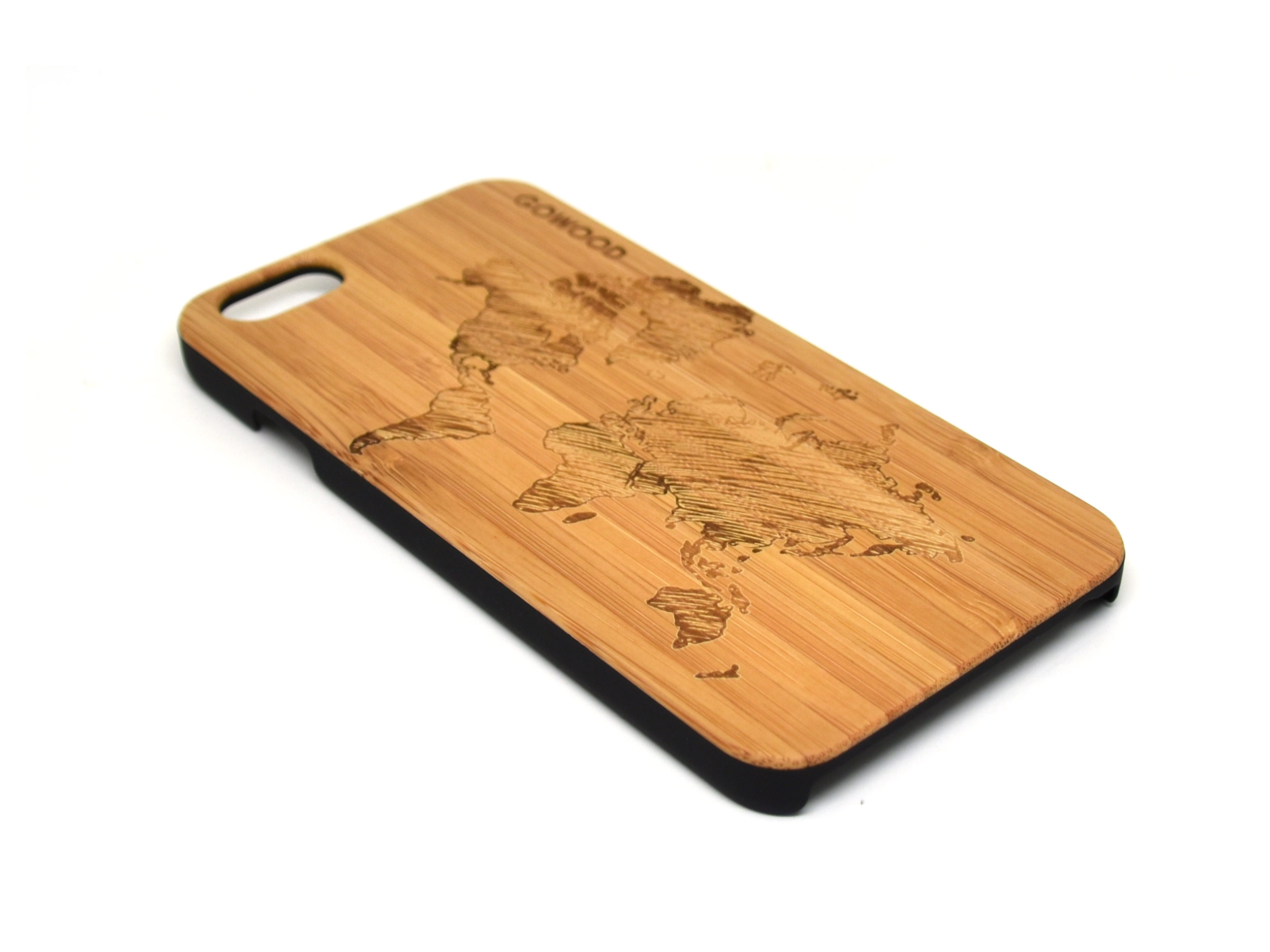 iPhone 6 case world map left angle