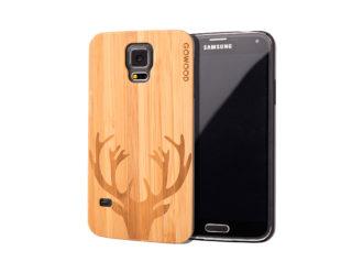 Samsung Galaxy S5 case bamboo deer