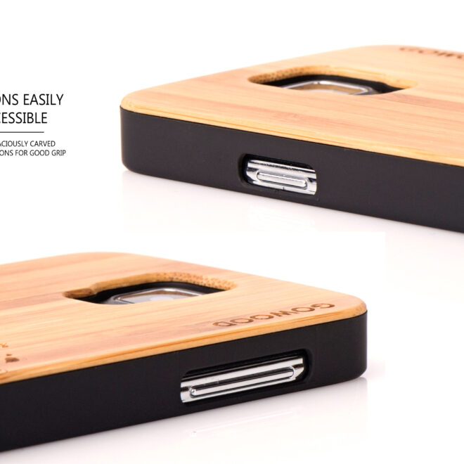 Samsung Galaxy S5 case bamboo tree buttons