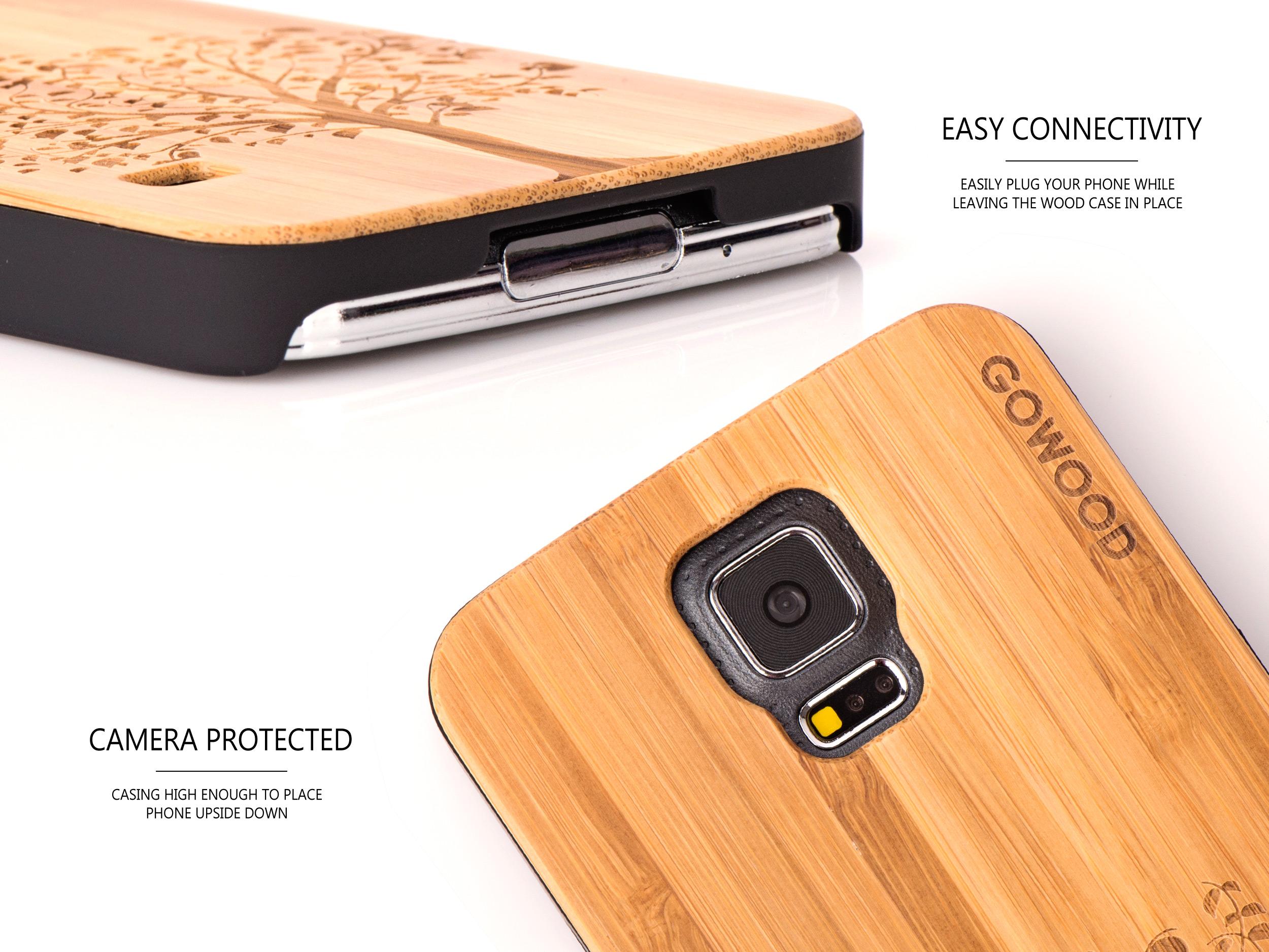 Samsung Galaxy S5 case bamboo tree camera