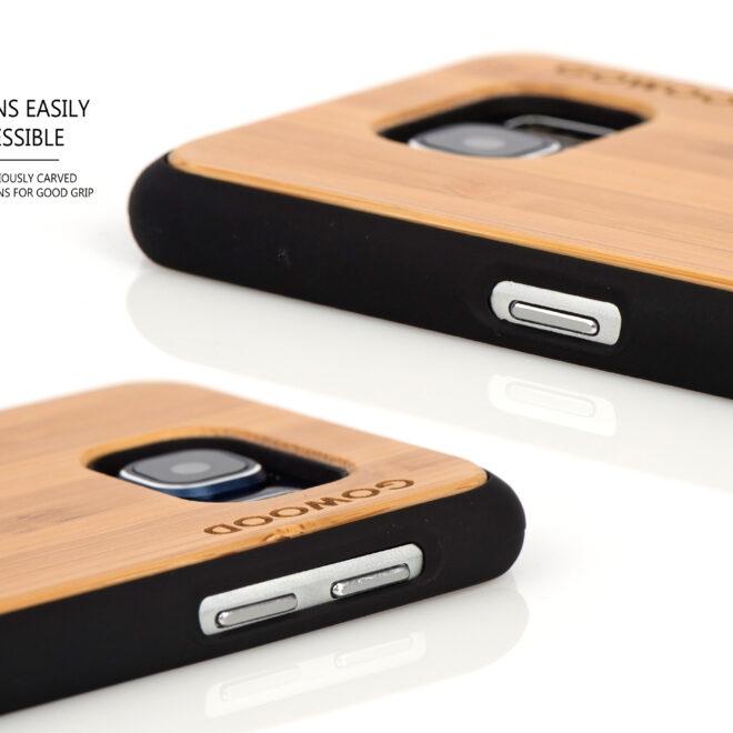 Samsung Galaxy S6 case bamboo deer buttons
