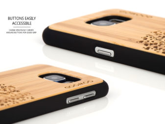 Samsung Galaxy S6 case bamboo tree buttons
