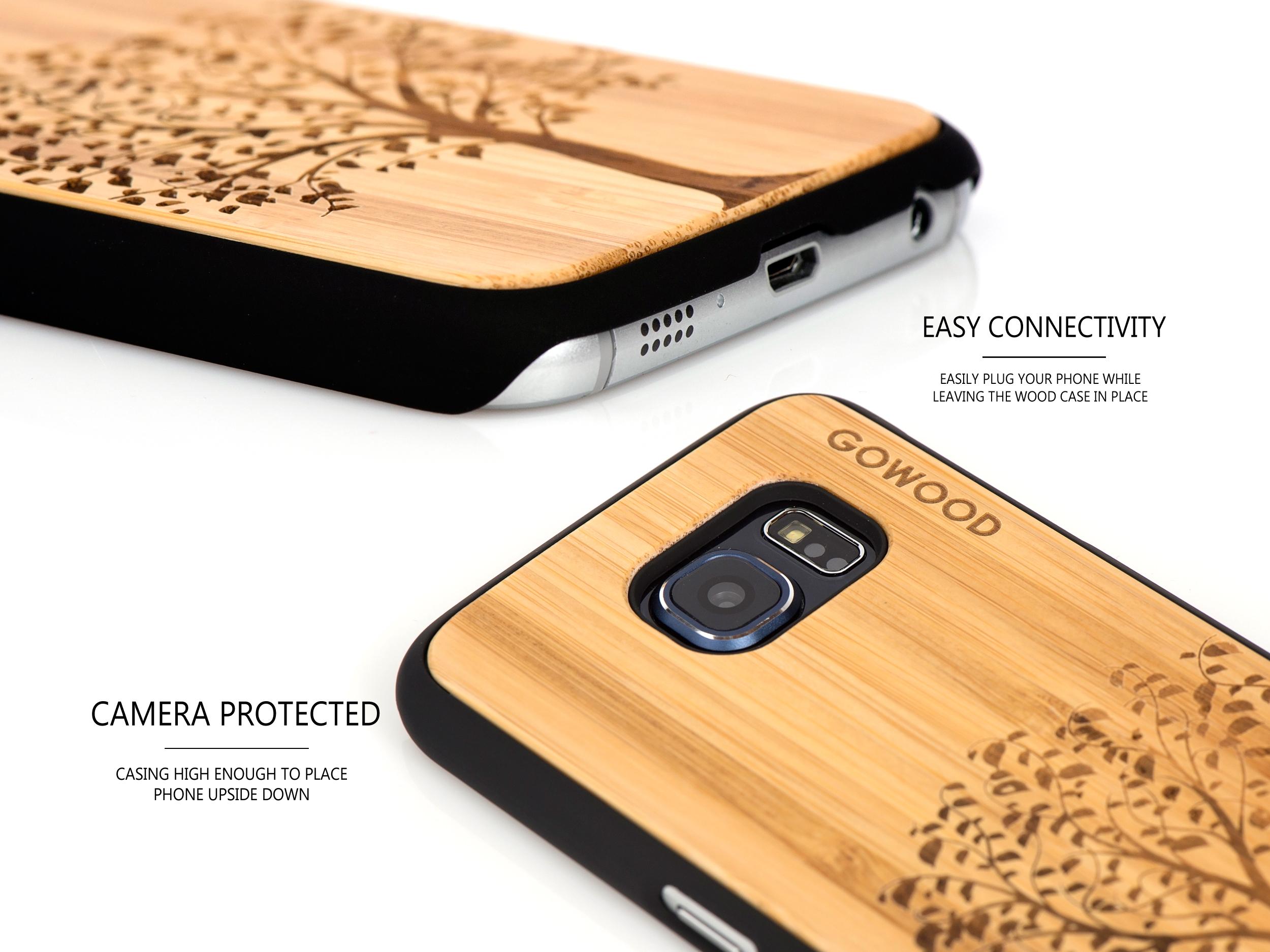 Samsung Galaxy S6 case bamboo tree camera